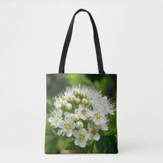Ninebark White Wildflower Floral Tote Bag