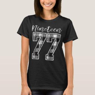 Nineteen 77 Buffalo Check Plaid 1977 40th Birthday T-Shirt