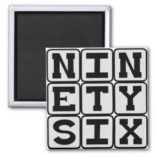 Ninety Six Number 96 Magnet