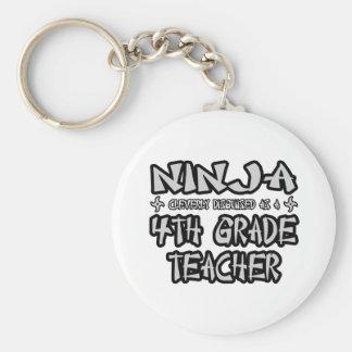 Ninja...4th Grade Teacher Key Chains