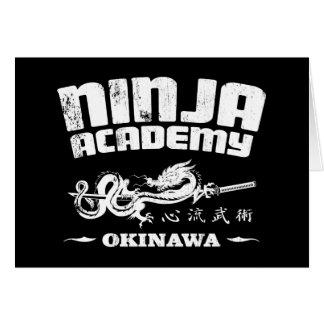 Ninja Academy Okinawa Kill Bill Greeting Card