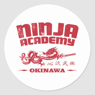 Ninja Academy Okinawa Kill Bill Round Sticker