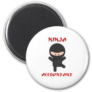 Ninja Accountant 6 Cm Round Magnet