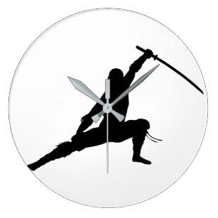 Ninja Acrylic Wall Clock