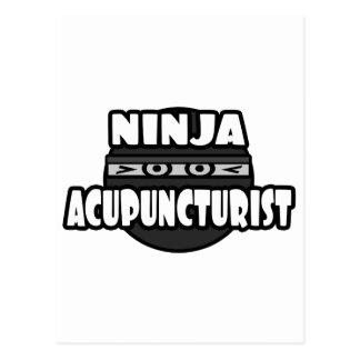Ninja Acupuncturist Postcard
