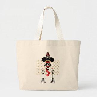 Ninja and lampholder (Ninja and candlesticks) Canvas Bags