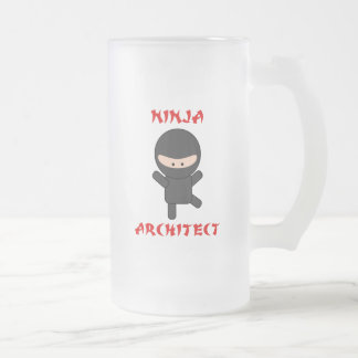 ninja architect frosted glass beer mug