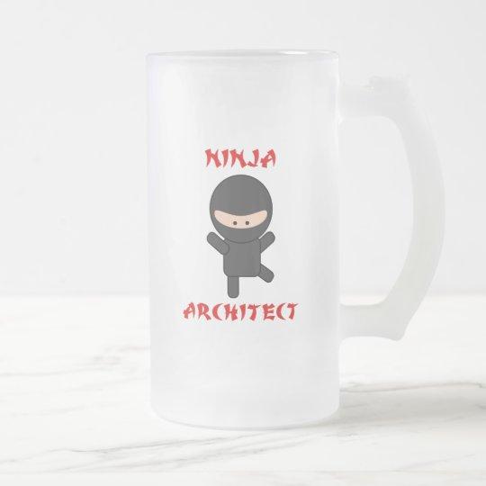 ninja architect frosted glass beer mug