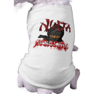 Ninja Assassin Sleeveless Dog Shirt