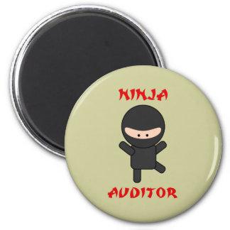 ninja auditor 6 cm round magnet