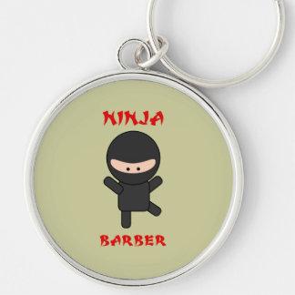 Ninja Barber Plain Key Ring