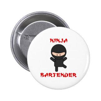 Ninja Bartender Plain 6 Cm Round Badge