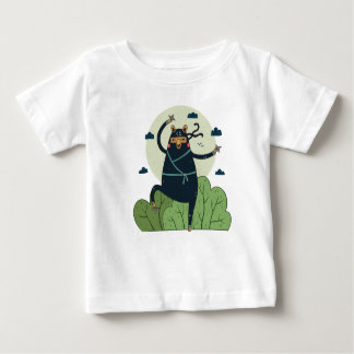 Ninja Bear in Action Baby T-Shirt
