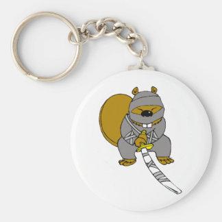 Ninja Beaver Key Ring