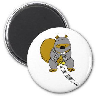 Ninja Beaver Magnet