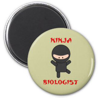 ninja biologist 6 cm round magnet