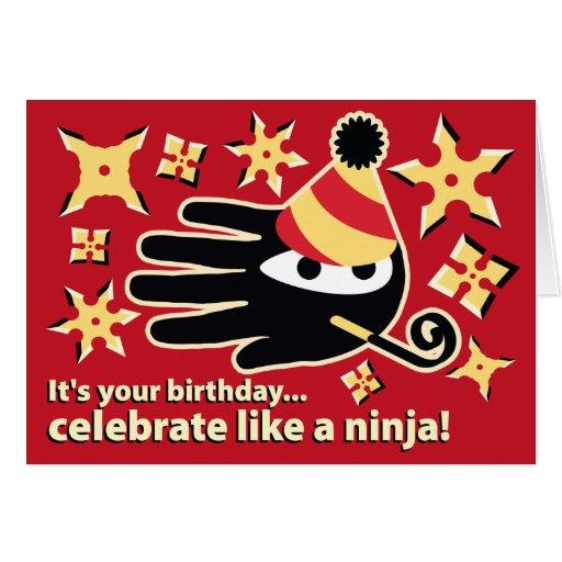 Ninja Birthday Card. Celebrate like a ninja