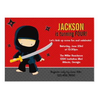 Ninja Birthday Party 13 Cm X 18 Cm Invitation Card