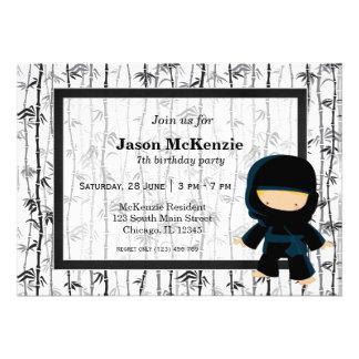 Ninja birthday theme personalized invitation