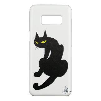 NINJA BLACK CAT White Case-Mate Samsung Galaxy S8 Case