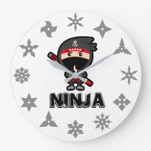 Ninja Boy Large Clock