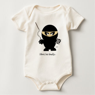 ninja boy, Silent, but deadly..., POOF! Baby Baby Bodysuit