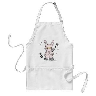 Ninja Bunny! With Shurikens Apron