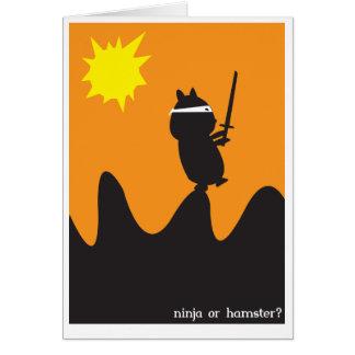 Ninja Note Card