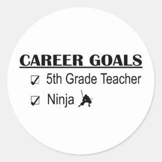 Ninja Career Goals - 5th Grade Round Stickers