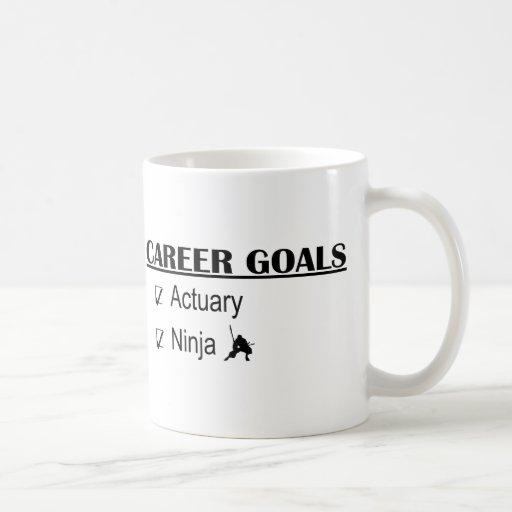 Ninja Career Goals - Actuary Mugs