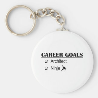 Ninja Career Goals - Architect Basic Round Button Key Ring