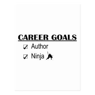 Ninja Career Goals - Author Postcard