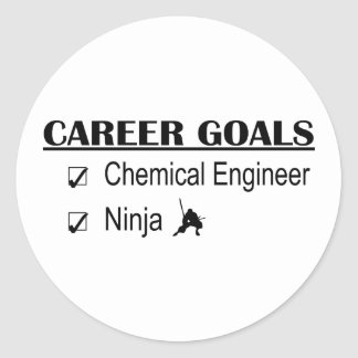 Ninja Career Goals - Chemical Engineer Round Sticker