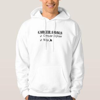 Ninja Career Goals - Computer Engineer Hooded Pullovers