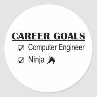 Ninja Career Goals - Computer Engineer Round Sticker