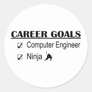 Ninja Career Goals - Computer Engineer Round Sticker