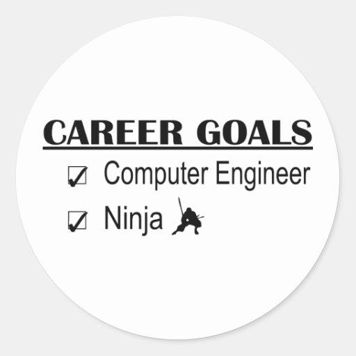 Ninja Career Goals - Computer Engineer Round Stickers