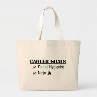 Ninja Career Goals - Dental Hygienist Large Tote Bag