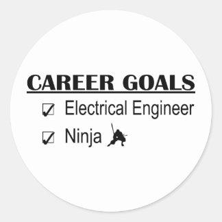 Ninja Career Goals - Electrical Engineer Round Sticker