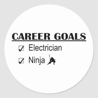 Ninja Career Goals - Electrician Classic Round Sticker