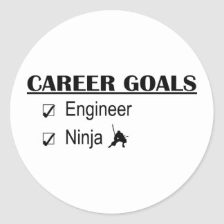 Ninja Career Goals - Engineer Round Sticker