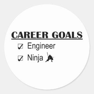 Ninja Career Goals - Engineer Round Sticker