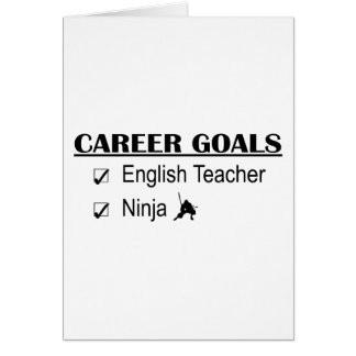 Ninja Career Goals - English Teacher Card