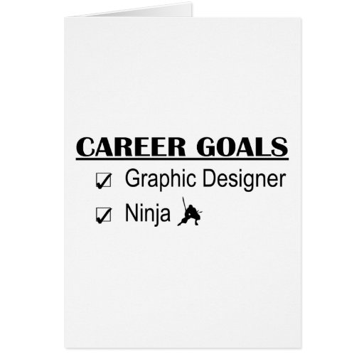 Ninja Career Goals - Graphic Designer Cards