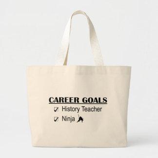 Ninja Career Goals - History Teacher Large Tote Bag