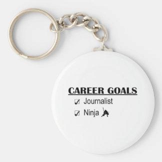 Ninja Career Goals - Journalist Basic Round Button Key Ring