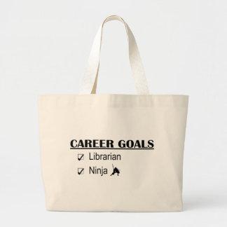 Ninja Career Goals - Librarian Large Tote Bag