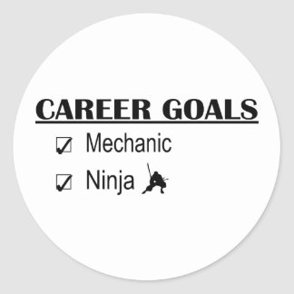 Ninja Career Goals - Mechanic Classic Round Sticker