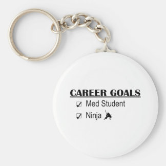 Ninja Career Goals - Med Student Basic Round Button Key Ring