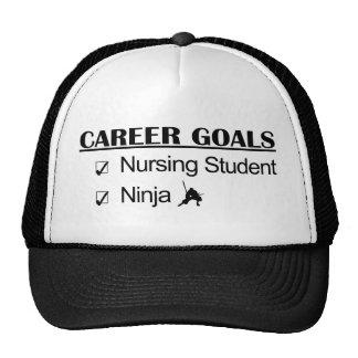 Ninja Career Goals - Nursing Student Trucker Hats